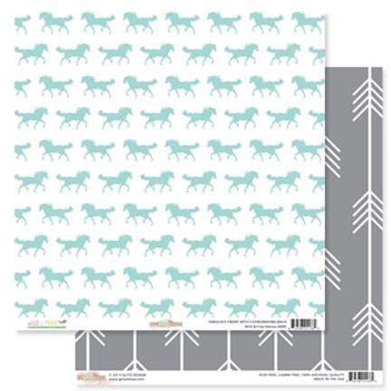 GLITZ  DESIGN,USA 12 X 12  - Дизайнерски скрапбукинг картон 30,5 х 30,5 см.