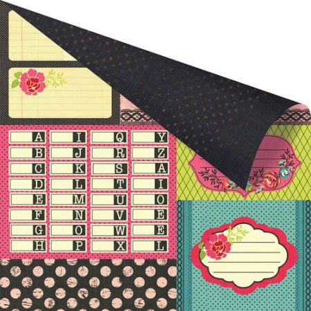 PRIMA USA 12 X 12  - Дизайнерски скрапбукинг картон 30,5 х 30,5 см.