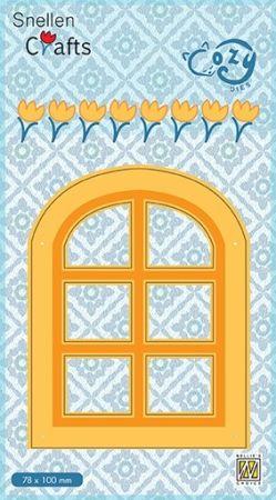 """CRAFT COZY DIE """"WINDOW """"   - Фигурална щанца за рязане и релеф"""