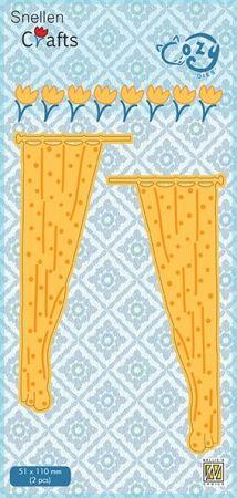 "CRAFT COZY DIE ""CURTAINS ""   - Фигурална щанца за рязане и релеф"