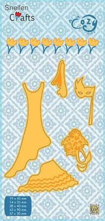 """CRAFT COZY DIE """"MARRIAGE """"   - Фигурална щанца за рязане и релеф"""