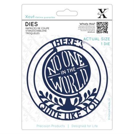 XCUT  DIES - Комплект щанцa за рязане и релеф NOONE IN THE WORLD
