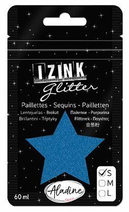 IZINK GLITTER S - Диамантен брокат за декорация 60ml BLUE 1