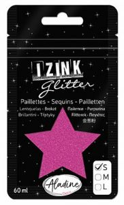 IZINK GLITTER S - Диамантен брокат за декорация 60ml FUCHSIA