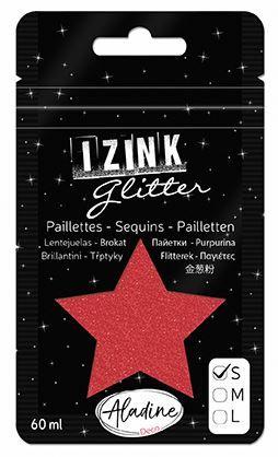 IZINK GLITTER S - Диамантен брокат за декорация 60ml RED 1