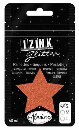 IZINK GLITTER S - Диамантен брокат за декорация 60ml COPPER