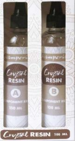 CRYSTAL EPOXY RESIN 100ml . - Кристалнa смола за бижута и отливки ДВУКОМПОНЕНТНА