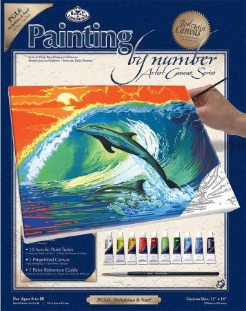 PAINTING by NUMBERS ,USA - Рисуване по номера на платно 350 x 280mm * PCL6