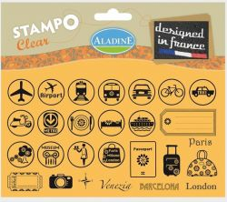 ALADINE STAMPS France - Комплект Дизайнерски печати 11Х19см