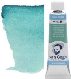 VAN GOGH WATERCOLOUR TUBE - Екстра фин акварел  # Turquoise Green 661