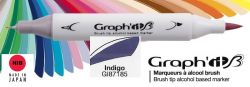 # GRAPH IT BRUSH MARKER - Двувърх дизайн маркери ЧЕТКА - INDIGO