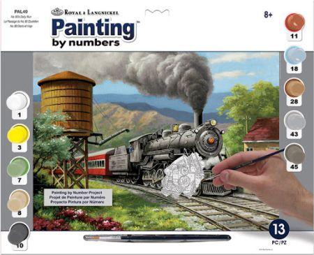 R&L USA #  DAILY RUN - Рисуване по номера  А3- * PAL49