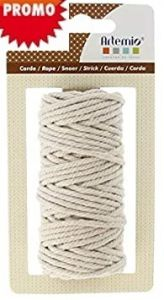 ARTEMIO COTTON CORD 1mm / 65m / 50g  БЯЛ