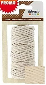 ARTEMIO COTTON CORD 1mm / 65m / 50g  ЕКРЮ