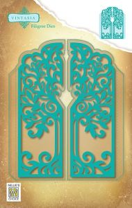 VIND064 Vintasia Dies:  FILIGREE DOOR 121 x 148mm