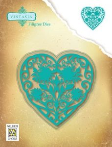 VIND066 Vintasia Dies:  FILIGREE HEART 91 X 90mm
