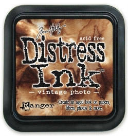 "Distress ink pad by Tim Holtz - Тампон, ""Дистрес"" техника - Vintage photo"