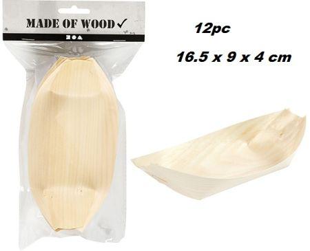 BOAT PLATES -  Дървени фурнирни съдчета за сервиране 12бр