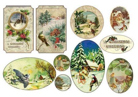 STAMPERIA RISO, Italy - Оризова декупажна хартия 48 х 33 см. - Christmas Greetings