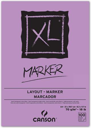 MARKER PAD CANSON XLA4 -  Блок за MARKER рисуване 100 листа / А4