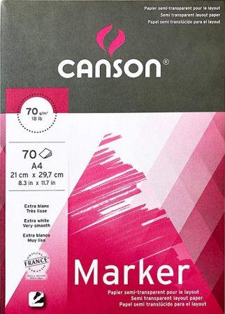 MARKER PAD CANSON XL A4 -  Блок за MARKER рисуване 70 листа / А4