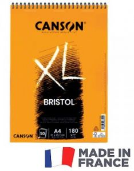 SPIRAL PAD CANSON 50SH XL A4 -  Блок за рисуване BRISTOL 50Л / А4