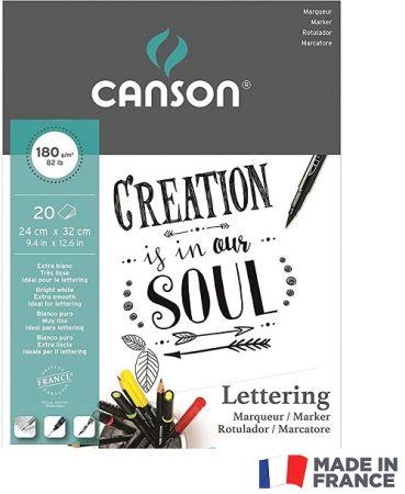 MARKER PAD LETTERING CANSON 24X32 180g -  Блок за MARKER рисуване