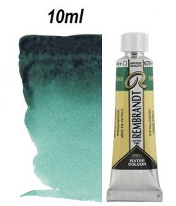 "REMBRANDT WATERCOLOUR TUBE 2 - Екстра фин акварел `ТУБА""  10ml PHTALO. GREEN"