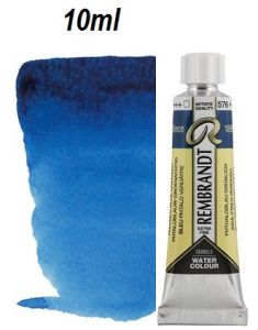 "REMBRANDT WATERCOLOUR TUBE 2 - Екстра фин акварел `ТУБА""  10ml PHTALO BLUE GREEN"