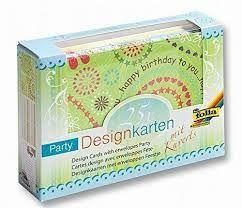 FB DESIGN cards & envelopes - 25 картички и пликове с брокатени елементи - PARTY