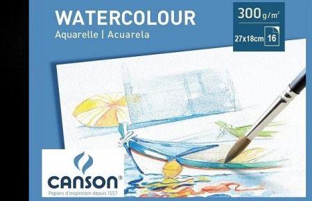 # CANSON WATERCOLOUR  PAD 300g - АКВАРЕЛЕН блок 16л 270x180