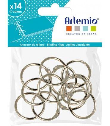 АARTEMIO RINGS CRAFTERS  30mm  - Рингове халки за албуми 30mm / 14 бр. SILVER