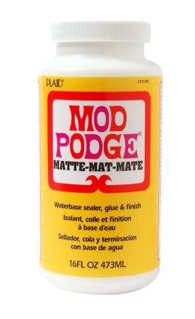 MOD PODGE MATTE, USA - ЛАК / лепило за колажи мат 473 мл.