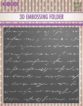 "3D-embossing folder ""WRITING"" 150x150mm- 3D Ембос папка"