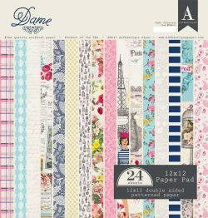"AUTHENTIQUE,USA - Дизайн блок ""Dame""  30,5x30.5"
