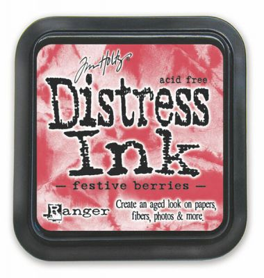 "Distress ink pad by Tim Holtz - Тампон, ""Дистрес"" техника - Festive Berries"