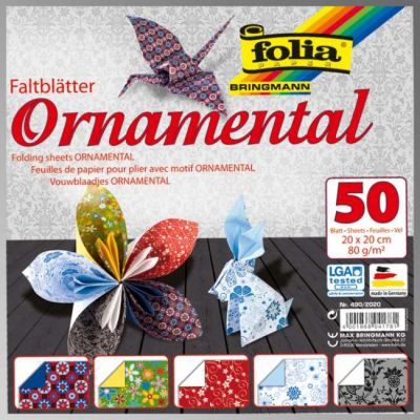 "FB ORNAMENTAL BLOCK 8""x8""  - Блок дизайнерски хартии 50л / 20х20см"