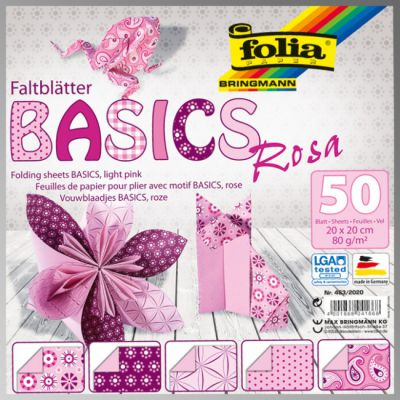 "FB BASICS ROSA BLOCK  8х8"" - БЛОК дизайнерски хартии 50л / 20х20см."