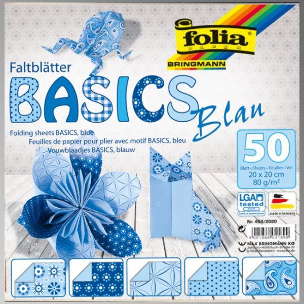 "FB BASICS BLUE BLOCK 8x8"" -  БЛОК дизайнерски хартии 50л / 20х20см"