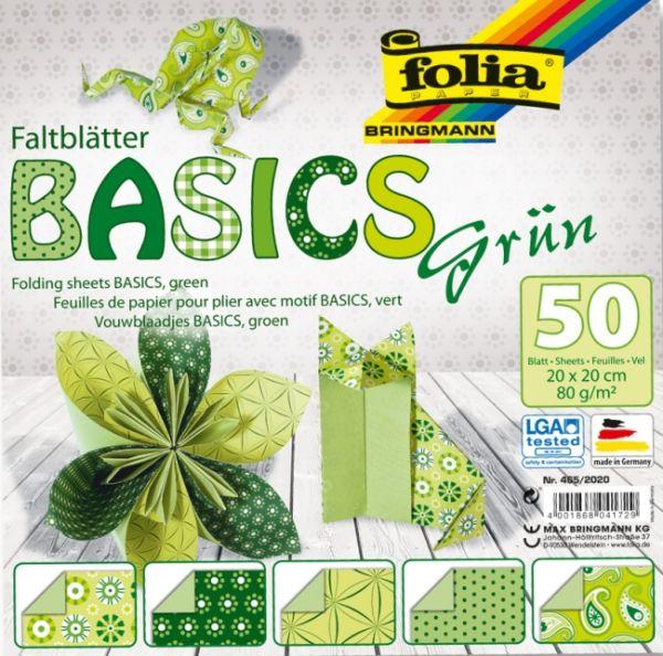 "FB BASICS GREEN BLOCK 8x8"" - БЛОК дизайнерски хартии  50л / 20х20см."