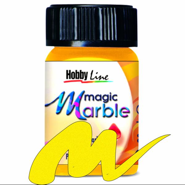 Magic Marble - Боя за мраморен ефект,20мл. - Металик жълто