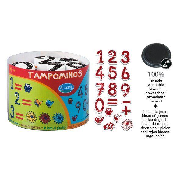 STAMPOminos ALADINE , FRANCE - Комплект големи гумени печати + тампон 85110