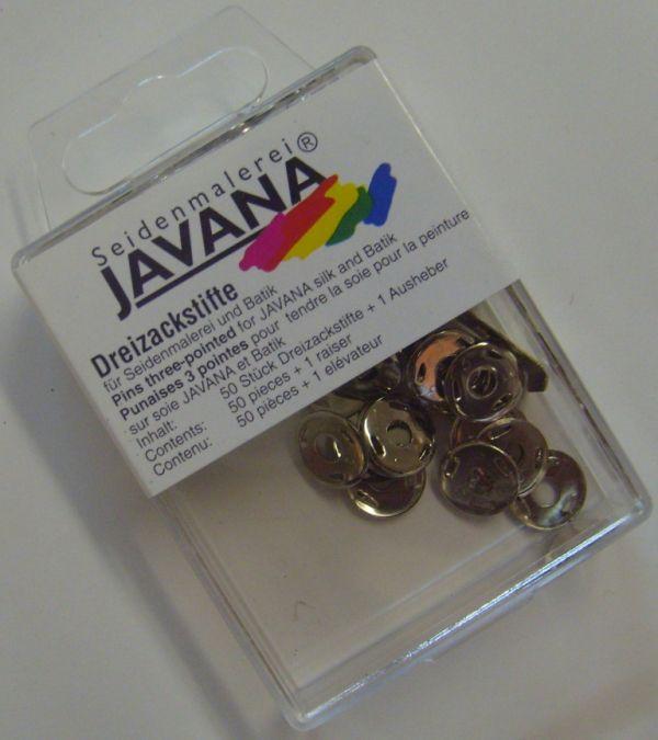 JAVANA PINS - Тривърхи кабъри за опъване на коприна / 50 бр