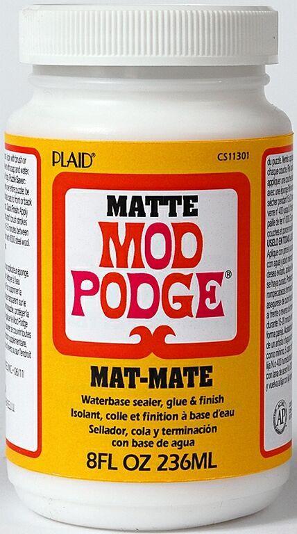 """MOD PODGE MATTE, USA - Лепило/лак за колажи """"сатен-мат"""" 236 мл."""