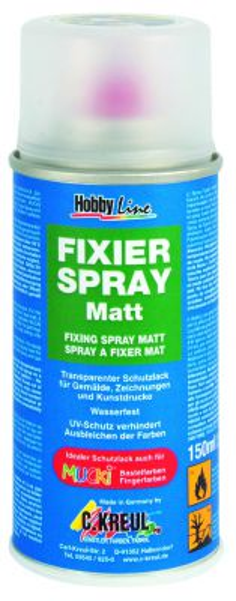 FIXIER SPRAY MATT - Мат/САТЕН лак за водоразтворими бои 150 мл. спрей