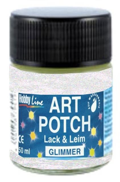 ART POTCH GLIMMER - Лак / лепило за САЛФЕТНА ТЕХНИКА -брокат холографски 50 мл.