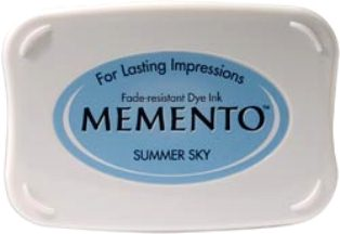 MEMENTO INKPAD - Тампон с ярък отпечатък SUMMER SKY
