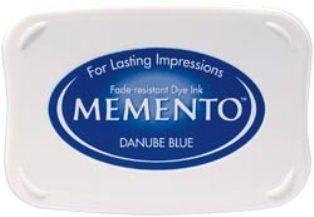 MEMENTO INKPAD - Тампон с ярък отпечатък DANUBE BLUE