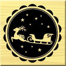 ARTEMIO STAMP ARTHE 738 - Гумен печат CHRISTMAS SLEDGE