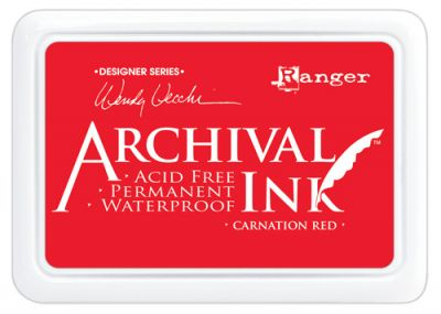 ARCHIVAL INK PAD, USA - Tампон с архивно перманентно мастило, Carnation Red